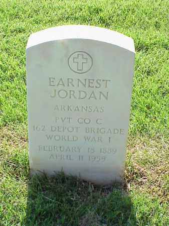 JORDAN (VETERAN WWI), EARNEST - Pulaski County, Arkansas | EARNEST JORDAN (VETERAN WWI) - Arkansas Gravestone Photos