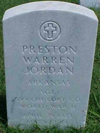 JORDAN (VETERAN WWII), PRESTON WARREN - Pulaski County, Arkansas | PRESTON WARREN JORDAN (VETERAN WWII) - Arkansas Gravestone Photos