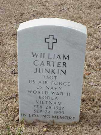 JUNKIN  (VETERAN 3 WARS), WILLIAM CARTER - Pulaski County, Arkansas | WILLIAM CARTER JUNKIN  (VETERAN 3 WARS) - Arkansas Gravestone Photos