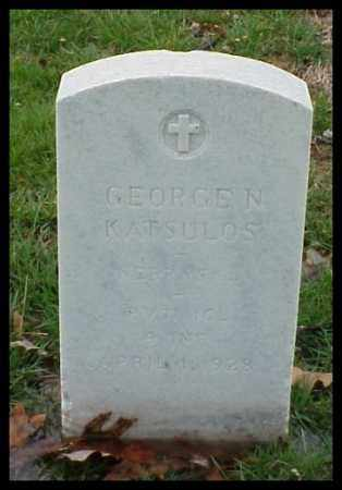 KATSULOS (VETERAN), GEORGE N - Pulaski County, Arkansas | GEORGE N KATSULOS (VETERAN) - Arkansas Gravestone Photos