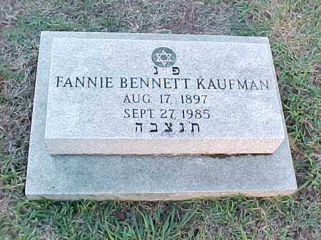 KAUFMAN, FANNIE - Pulaski County, Arkansas | FANNIE KAUFMAN - Arkansas Gravestone Photos