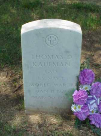 KAUFMAN (VETERAN WWII), THOMAS D - Pulaski County, Arkansas | THOMAS D KAUFMAN (VETERAN WWII) - Arkansas Gravestone Photos