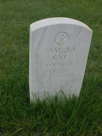 KAY (VETERAN WWII), JAMES L - Pulaski County, Arkansas | JAMES L KAY (VETERAN WWII) - Arkansas Gravestone Photos