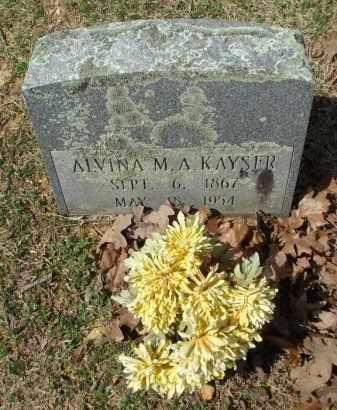 KAYSER, ALVINA M AUGUSTA - Pulaski County, Arkansas | ALVINA M AUGUSTA KAYSER - Arkansas Gravestone Photos