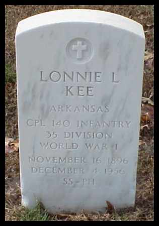 KEE (VETERAN WWI), LONNIE LEE - Pulaski County, Arkansas | LONNIE LEE KEE (VETERAN WWI) - Arkansas Gravestone Photos