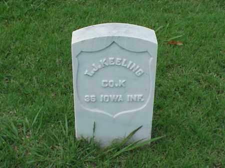 KEELING (VETERAN UNION), T J - Pulaski County, Arkansas | T J KEELING (VETERAN UNION) - Arkansas Gravestone Photos