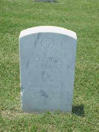 KEENE (VETERAN WWII), CECIL L - Pulaski County, Arkansas | CECIL L KEENE (VETERAN WWII) - Arkansas Gravestone Photos