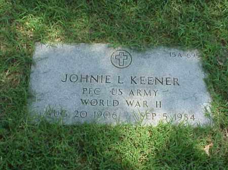 KEENER (VETERAN WWII), JOHNIE L - Pulaski County, Arkansas | JOHNIE L KEENER (VETERAN WWII) - Arkansas Gravestone Photos
