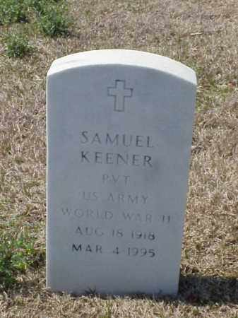 KEENER (VETERAN WWII), SAMUEL - Pulaski County, Arkansas | SAMUEL KEENER (VETERAN WWII) - Arkansas Gravestone Photos