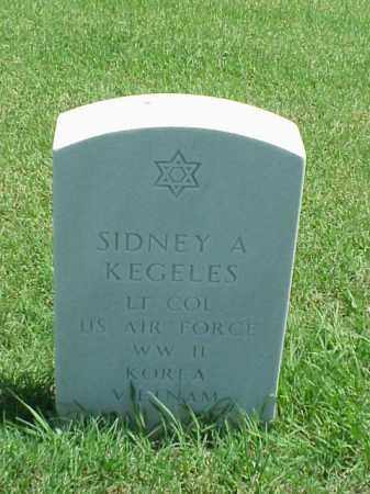KEGELES (VETERAN 3 WARS), SIDNEY A - Pulaski County, Arkansas | SIDNEY A KEGELES (VETERAN 3 WARS) - Arkansas Gravestone Photos