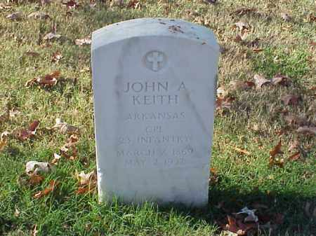 KEITH (VETERAN), JOHN A - Pulaski County, Arkansas | JOHN A KEITH (VETERAN) - Arkansas Gravestone Photos