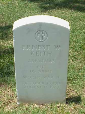 KEITH (VETERAN WWII), ERNEST W - Pulaski County, Arkansas | ERNEST W KEITH (VETERAN WWII) - Arkansas Gravestone Photos
