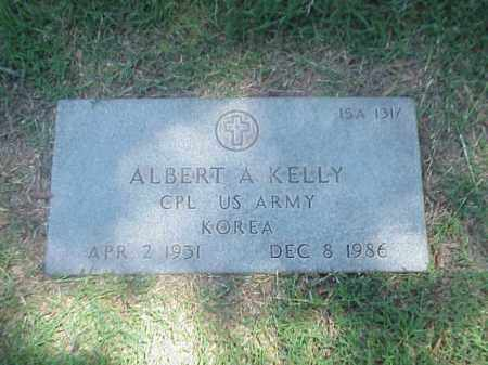 KELLY (VETERAN KOR), ALBERT A - Pulaski County, Arkansas | ALBERT A KELLY (VETERAN KOR) - Arkansas Gravestone Photos