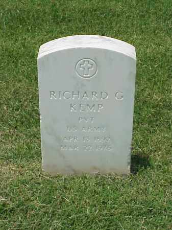 KEMP (VETERAN WWI), RICHARD G - Pulaski County, Arkansas | RICHARD G KEMP (VETERAN WWI) - Arkansas Gravestone Photos