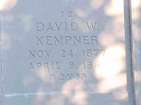 KEMPNER, DAVID W - Pulaski County, Arkansas | DAVID W KEMPNER - Arkansas Gravestone Photos
