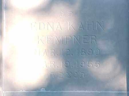 KAHN KEMPNER, EDNA - Pulaski County, Arkansas | EDNA KAHN KEMPNER - Arkansas Gravestone Photos
