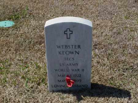 KEOWN (VETERAN WWII), WEBSTER - Pulaski County, Arkansas | WEBSTER KEOWN (VETERAN WWII) - Arkansas Gravestone Photos
