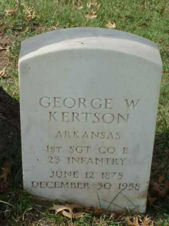 KERTSON (VETERAN SAW), GEORGE W - Pulaski County, Arkansas | GEORGE W KERTSON (VETERAN SAW) - Arkansas Gravestone Photos