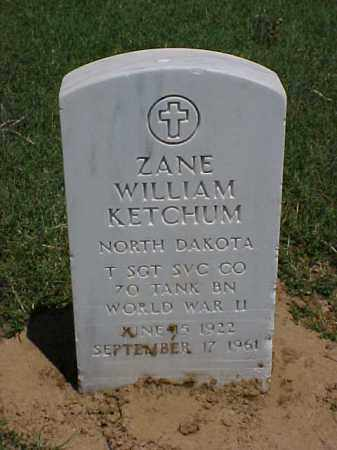 KETCHUM (VETERAN WWII), ZANE WILLIAM - Pulaski County, Arkansas | ZANE WILLIAM KETCHUM (VETERAN WWII) - Arkansas Gravestone Photos