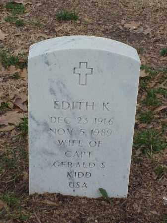 KIDD, EDITH K - Pulaski County, Arkansas | EDITH K KIDD - Arkansas Gravestone Photos
