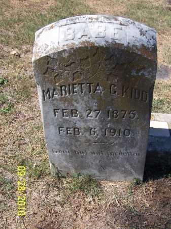 KIDD, MARIETTA C. - Pulaski County, Arkansas | MARIETTA C. KIDD - Arkansas Gravestone Photos