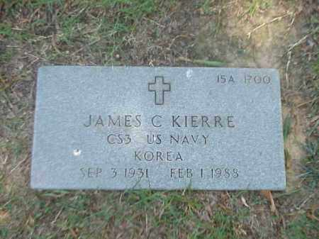 KIERRE (VETERAN KOR), JAMES C - Pulaski County, Arkansas | JAMES C KIERRE (VETERAN KOR) - Arkansas Gravestone Photos