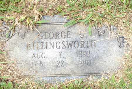 KILLINGSWORTH, GEORGE  G. - Pulaski County, Arkansas | GEORGE  G. KILLINGSWORTH - Arkansas Gravestone Photos