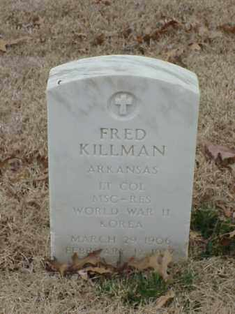 KILLMAN (VETERAN 2 WARS), FRED - Pulaski County, Arkansas | FRED KILLMAN (VETERAN 2 WARS) - Arkansas Gravestone Photos