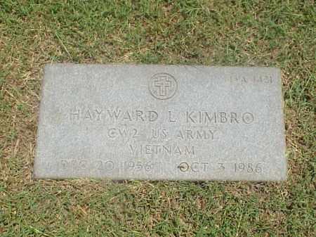 KIMBRO (VETERAN VIET), HAYWARD L - Pulaski County, Arkansas | HAYWARD L KIMBRO (VETERAN VIET) - Arkansas Gravestone Photos