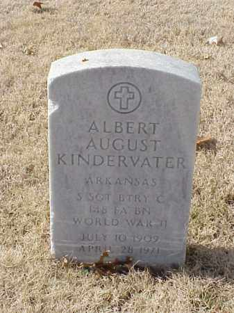 KINDERVATER (VETERAN WWII), ALBERT AUGUST - Pulaski County, Arkansas | ALBERT AUGUST KINDERVATER (VETERAN WWII) - Arkansas Gravestone Photos