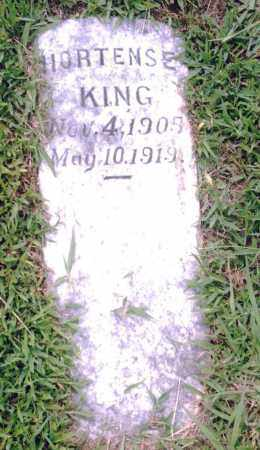 KING, HORTENSE - Pulaski County, Arkansas | HORTENSE KING - Arkansas Gravestone Photos