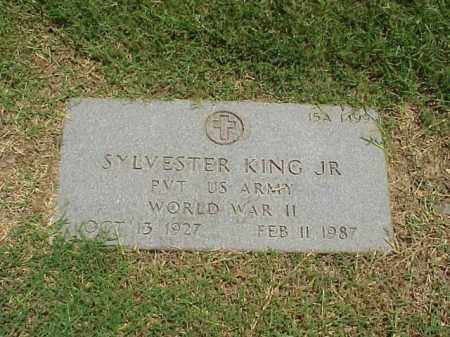 KING, JR (VETERAN WWII), SYLVESTER - Pulaski County, Arkansas | SYLVESTER KING, JR (VETERAN WWII) - Arkansas Gravestone Photos