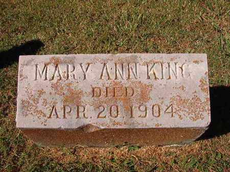 KING, MARY ANN - Pulaski County, Arkansas | MARY ANN KING - Arkansas Gravestone Photos