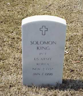 KING (VETERAN KOR), SOLOMON - Pulaski County, Arkansas | SOLOMON KING (VETERAN KOR) - Arkansas Gravestone Photos