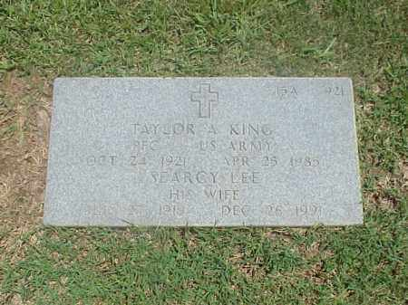 KING (VETERAN WWII), TAYLOR A - Pulaski County, Arkansas | TAYLOR A KING (VETERAN WWII) - Arkansas Gravestone Photos