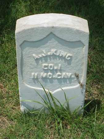 KING (VETERAN UNION), A J - Pulaski County, Arkansas | A J KING (VETERAN UNION) - Arkansas Gravestone Photos