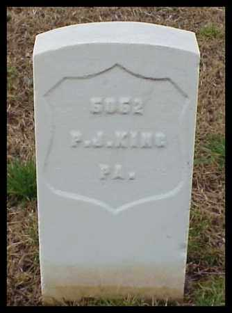 KING (VETERAN UNION), PETER J - Pulaski County, Arkansas | PETER J KING (VETERAN UNION) - Arkansas Gravestone Photos