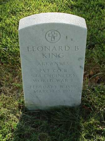 KING (VETERAN WWI), LEONARD B - Pulaski County, Arkansas | LEONARD B KING (VETERAN WWI) - Arkansas Gravestone Photos