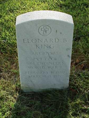 KING (VETERAN WWI), LEONARD B - Pulaski County, Arkansas | LEONARD B KING (VETERAN WWI) - Arkansas Gravestone Photos