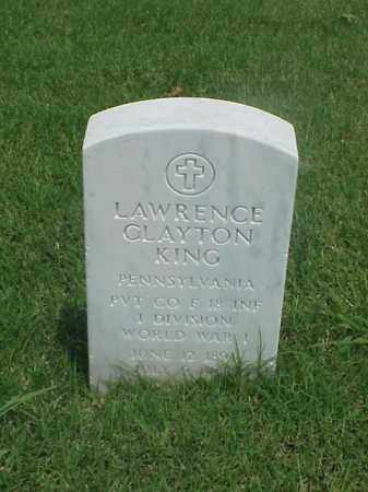 KING (VETERAN WWI), LAWRENCE CLAYTON - Pulaski County, Arkansas | LAWRENCE CLAYTON KING (VETERAN WWI) - Arkansas Gravestone Photos