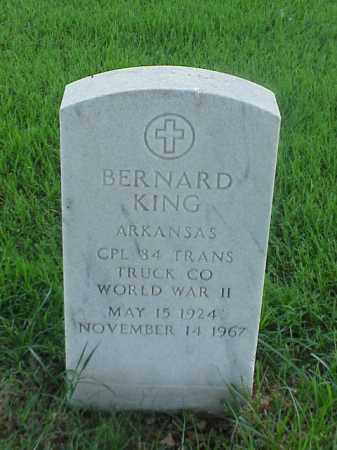 KING (VETERAN WWII), BERNARD - Pulaski County, Arkansas | BERNARD KING (VETERAN WWII) - Arkansas Gravestone Photos