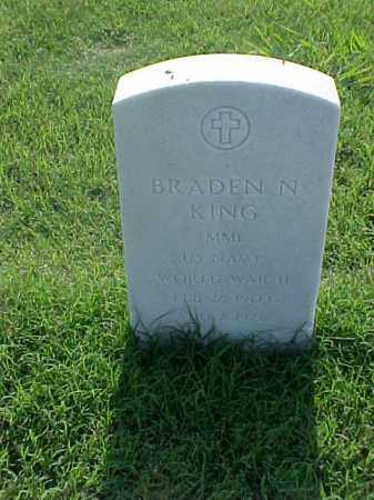 KING (VETERAN WWII), BRADEN N - Pulaski County, Arkansas | BRADEN N KING (VETERAN WWII) - Arkansas Gravestone Photos