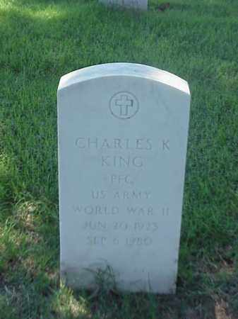 KING (VETERAN WWII), CHARLES K - Pulaski County, Arkansas | CHARLES K KING (VETERAN WWII) - Arkansas Gravestone Photos