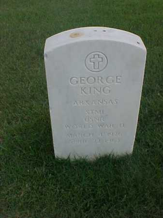 KING (VETERAN WWII), GEORGE - Pulaski County, Arkansas | GEORGE KING (VETERAN WWII) - Arkansas Gravestone Photos