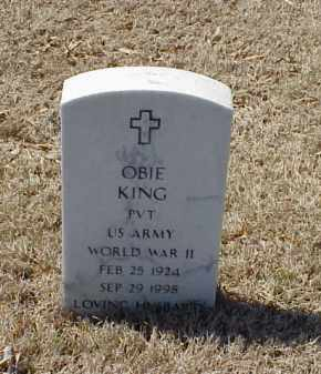 KING (VETERAN WWII), OBIE - Pulaski County, Arkansas | OBIE KING (VETERAN WWII) - Arkansas Gravestone Photos