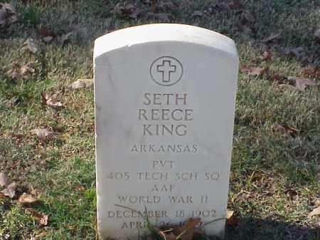 KING (VETERAN WWII), SETH REECE - Pulaski County, Arkansas | SETH REECE KING (VETERAN WWII) - Arkansas Gravestone Photos