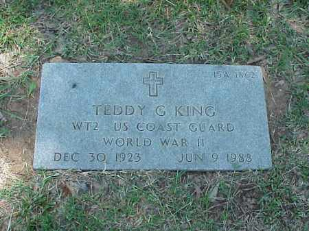 KING (VETERAN WWII), TEDDY G - Pulaski County, Arkansas | TEDDY G KING (VETERAN WWII) - Arkansas Gravestone Photos