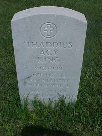 KING (VETERAN WWII), THADDIUS ACY - Pulaski County, Arkansas | THADDIUS ACY KING (VETERAN WWII) - Arkansas Gravestone Photos