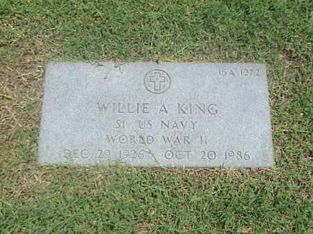 KING (VETERAN WWII), WILLIE A - Pulaski County, Arkansas | WILLIE A KING (VETERAN WWII) - Arkansas Gravestone Photos