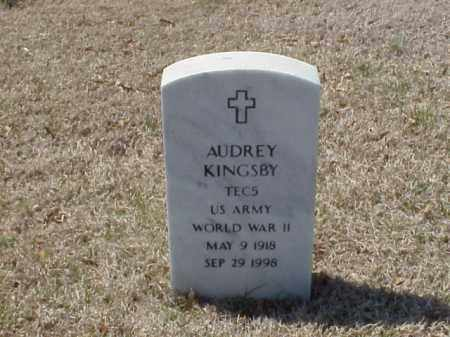 KINGSBY (VETERAN WWII), AUDREY - Pulaski County, Arkansas | AUDREY KINGSBY (VETERAN WWII) - Arkansas Gravestone Photos